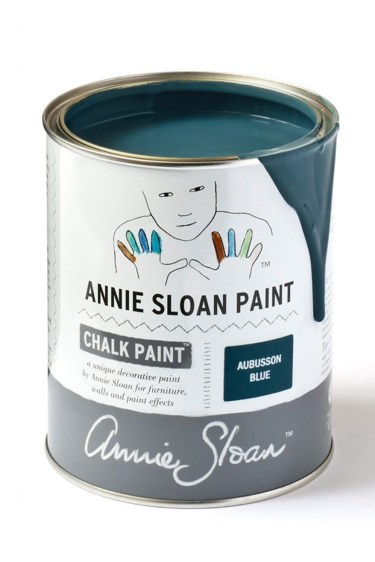 Quart 32 oz Aubusson Blue Annie Sloan Chalk Paint Can