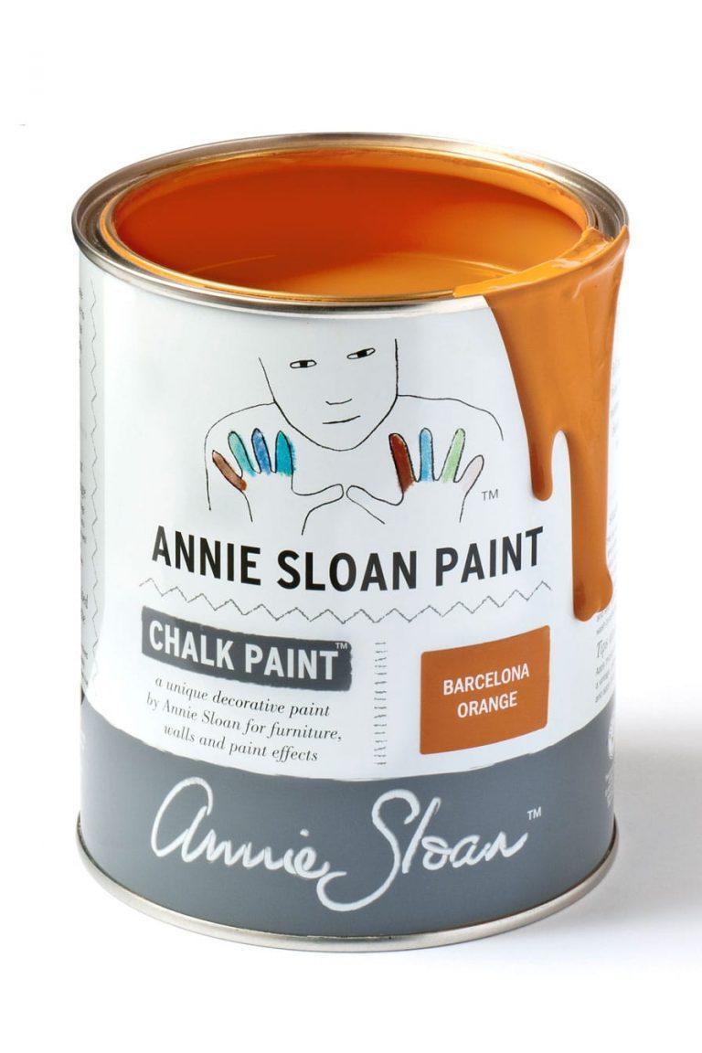 Quart 32 oz Barcelona Orange Annie Sloan Chalk Paint Can