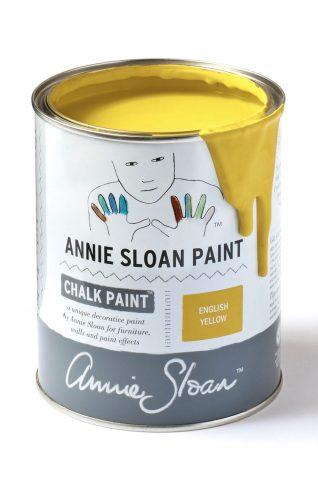 Quart 32 oz English Yellow Annie Sloan Chalk Paint Can