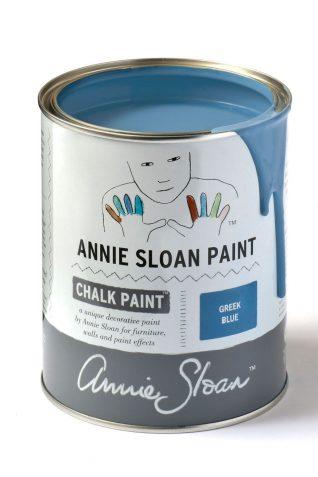 Quart 32 oz Greek Blue Annie Sloan Chalk Paint Can