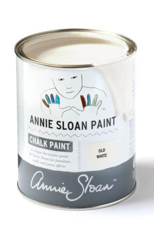 Quart 32 oz Old White Annie Sloan Chalk Paint Can