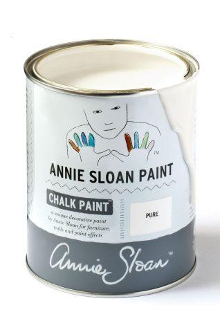 Quart 32 oz Pure White Annie Sloan Chalk Paint Can